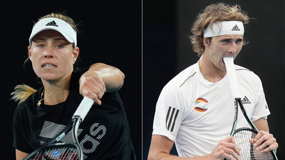 Für beide begann die Saison nicht gut: Angelique Kerber und Alexander Zverev.
