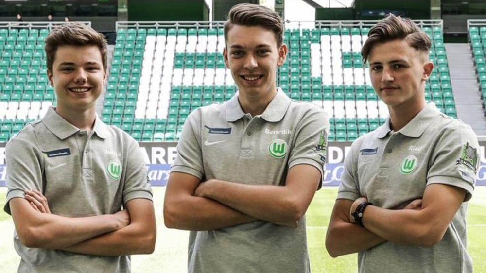 2018 traten 'Juli', 'BeneCR7x' und 'itsRiaad' (v.l.n.r.) dem VfL Wolfsburg bei.