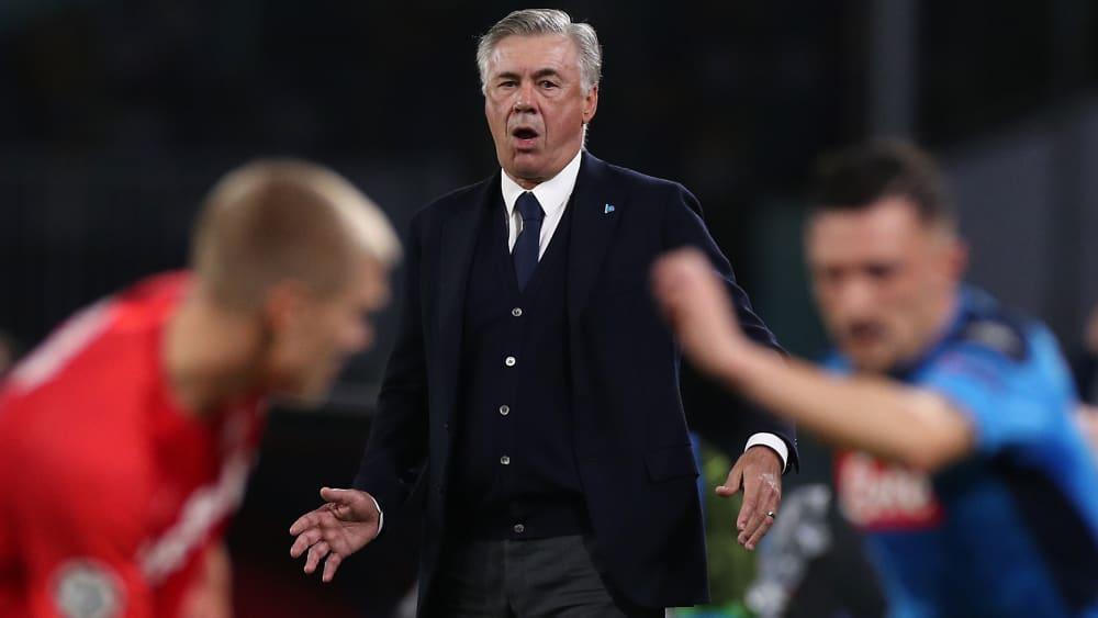 Carlo Ancelotti beim Heimspiel gegen Salzburg