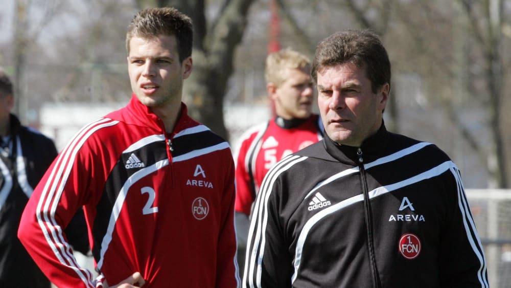 Dennis Diekmeier und Dieter Hecking in Nürnberg