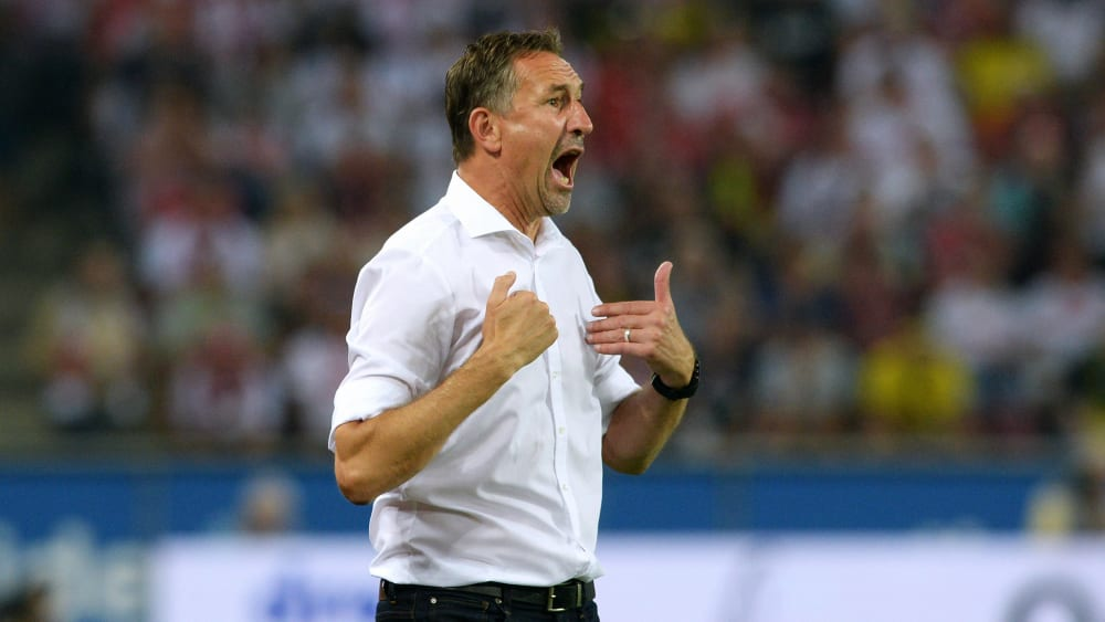 Fordert mehr Engagement von seinen Ersatzspielern: Kölns Trainer Achim Beierlorzer.