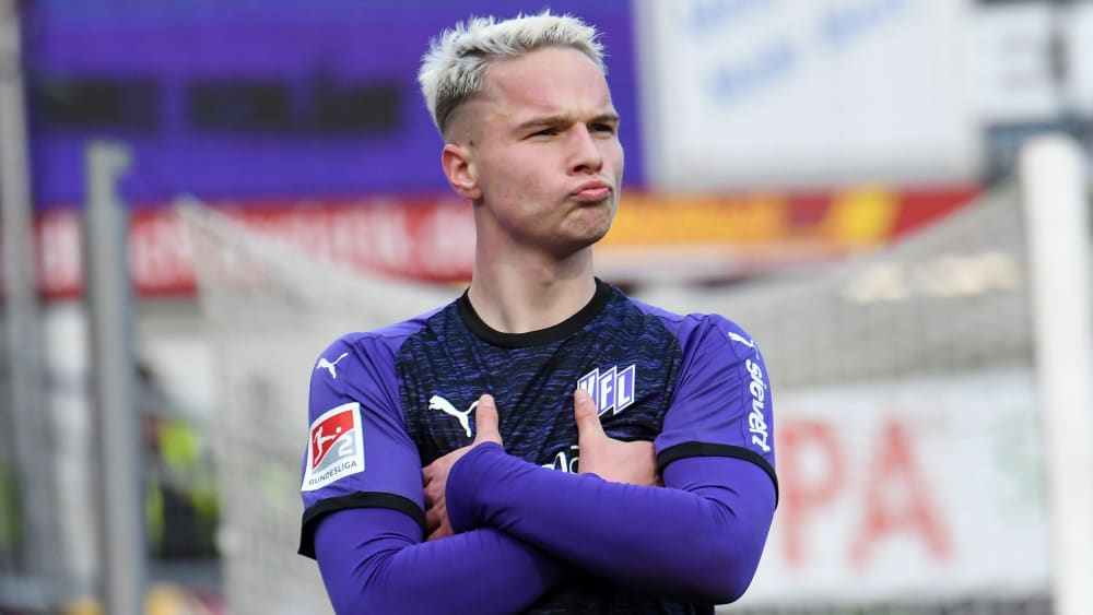 Niklas Schmidt traf für Osnabrück zum 2:0.