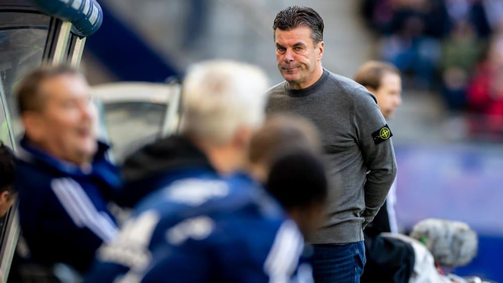 Dieter Hecking beim Spiel gegen Fürth