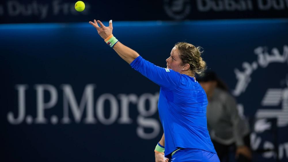Raus in Runde eins: Kim Clijsters.