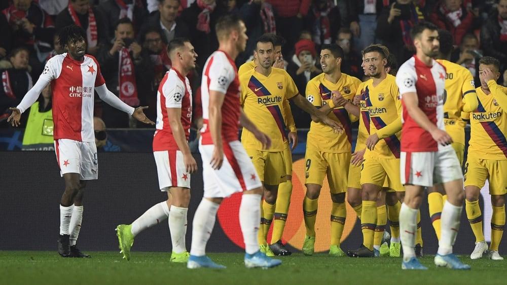 Barcelona mit schmeichelhaftem Sieg in Prag - Olayinkas Eigentor bringt Barça auf dei Siegerstraße