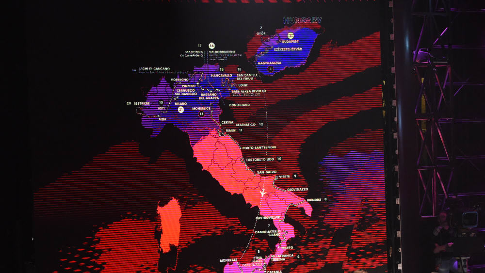 Streckenplan Giro d'Italia 2020