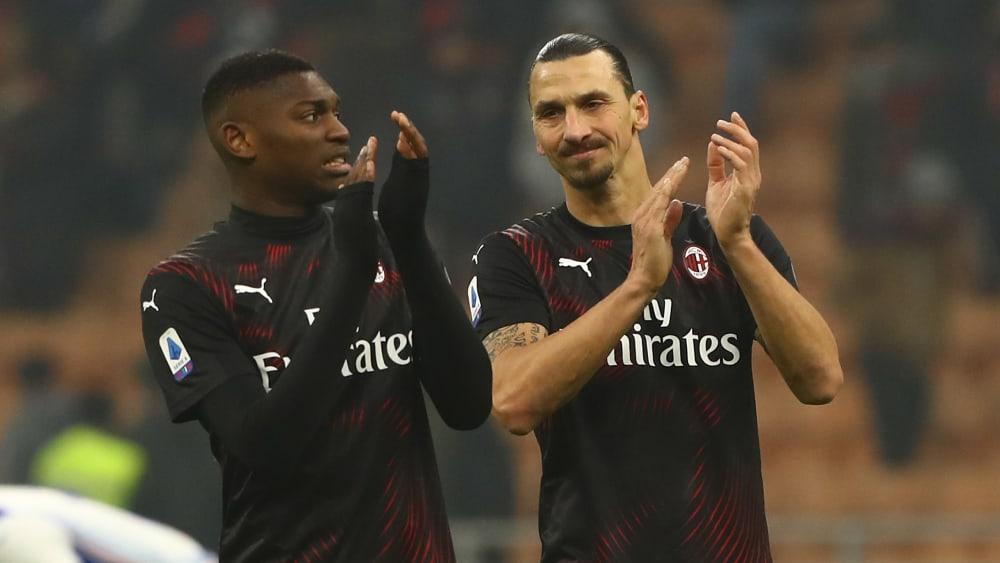 Applaus - doch ein Punkt zu Hause gegen Sampdoria war eigentlich zu wenig: Zlatan Ibrahimovic (r.).