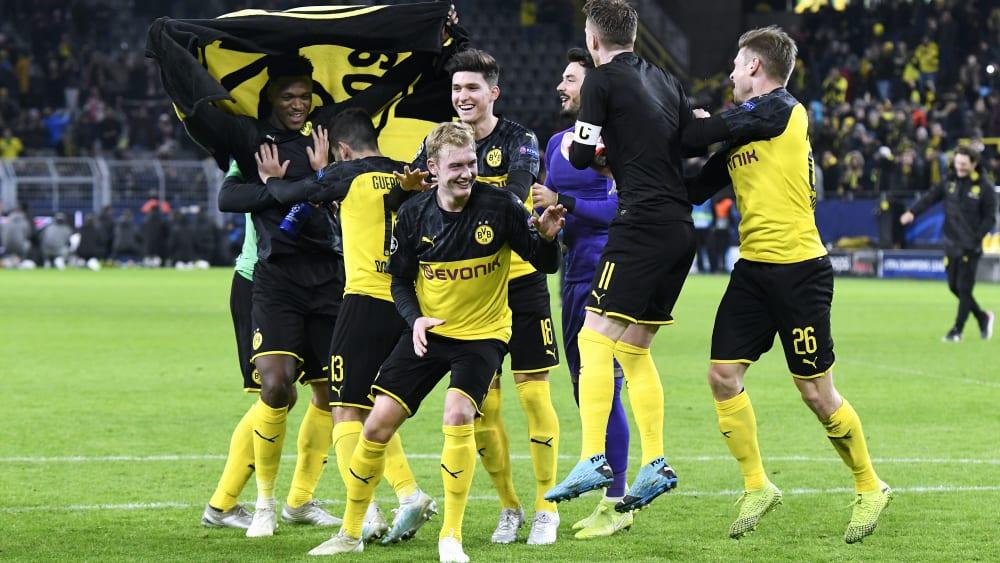 Erst gezittert, dann gefeiert: Der BVB spielt weiter in der Champions League.