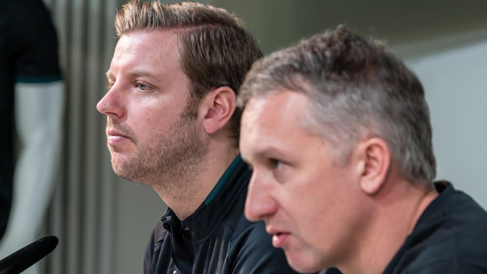 Manager Frank Baumann (r.) und Trainer Florian Kohfeldt