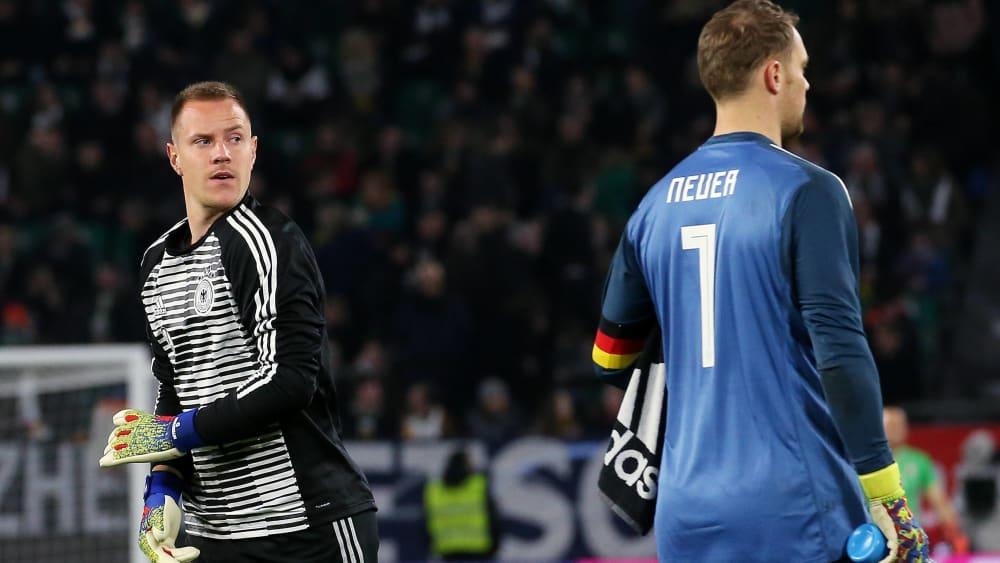 Marc-André ter Stegen (links) und Manuel Neuer