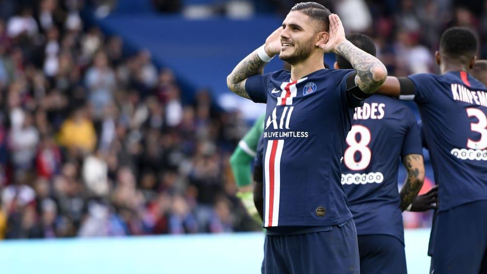 """Icardi trägt keine Inter-Wut in sich: """"Ich habe immer noch viele Freunde dort"""" - Stürmer fühlt sich bei Paris Saint-Germain wohl"""