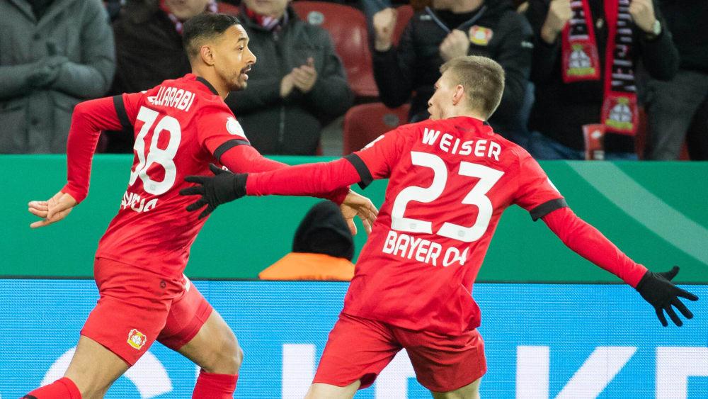 Mann der Wende: Karim Bellarabi (li.) hat das 1:1 für Leverkusen erzielt.