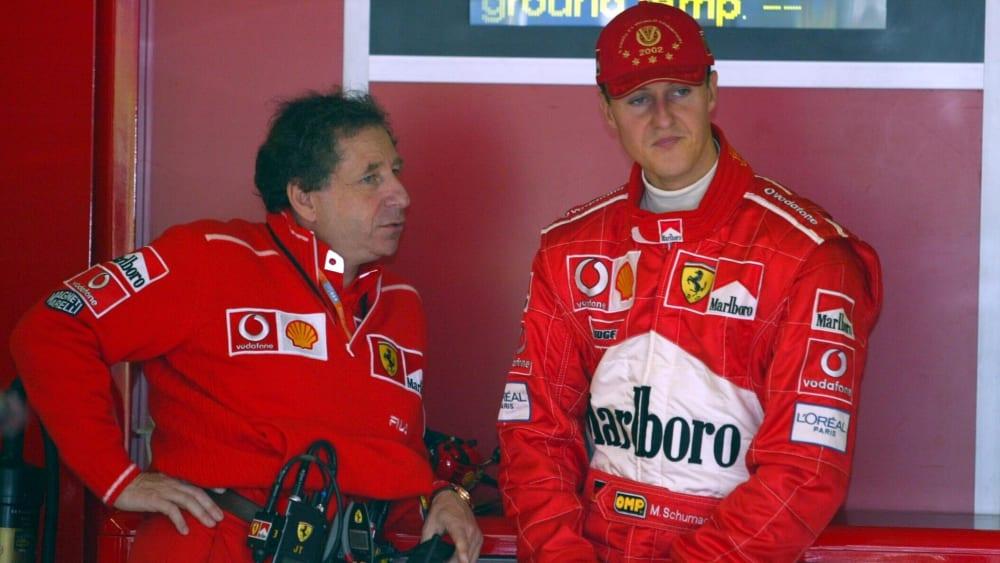 Freunde: Der heutige FIA-Präsident Jean Todt und der siebenmalige F1-Champion Michael Schumacher, hier im Jahr 2002.