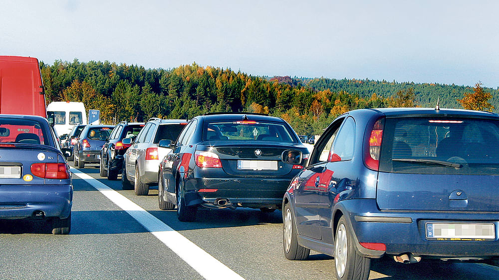 Autobahn-Stau