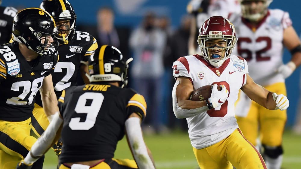 Amon-Ra St. Brown ist Wide Receiver an der University of Southern California USC bei den USC Trojans.