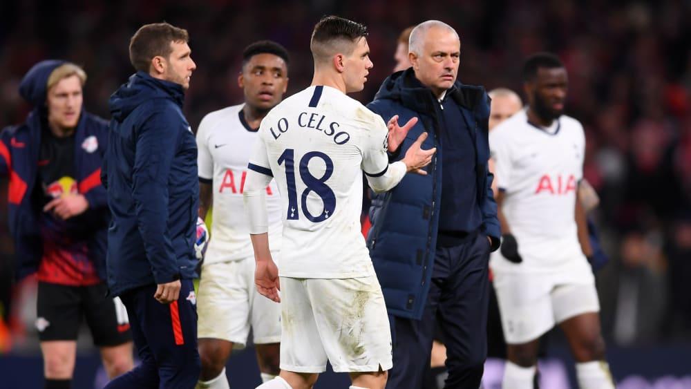 Giovani Lo Celso, José Mourinho (re.)