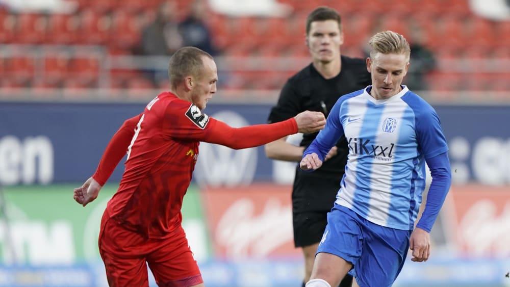Meppens Evseev entwischt seinem Gegenspieler