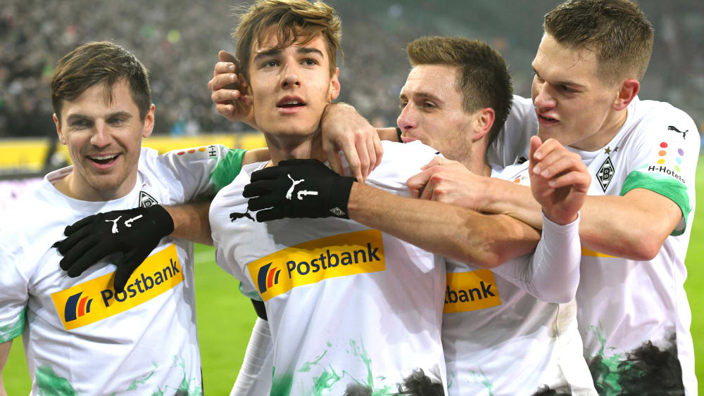 Jonas Hofmann, Florian Neuhaus, Peter Herrmann und Matthias Ginter