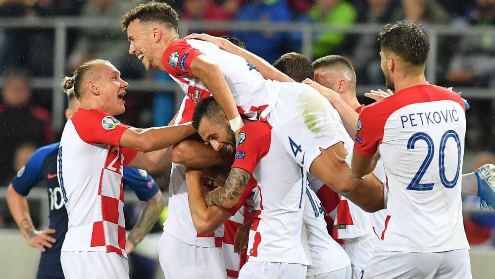 Zurück an der Tabellenspitze: Vizeweltmeister Kroatien.