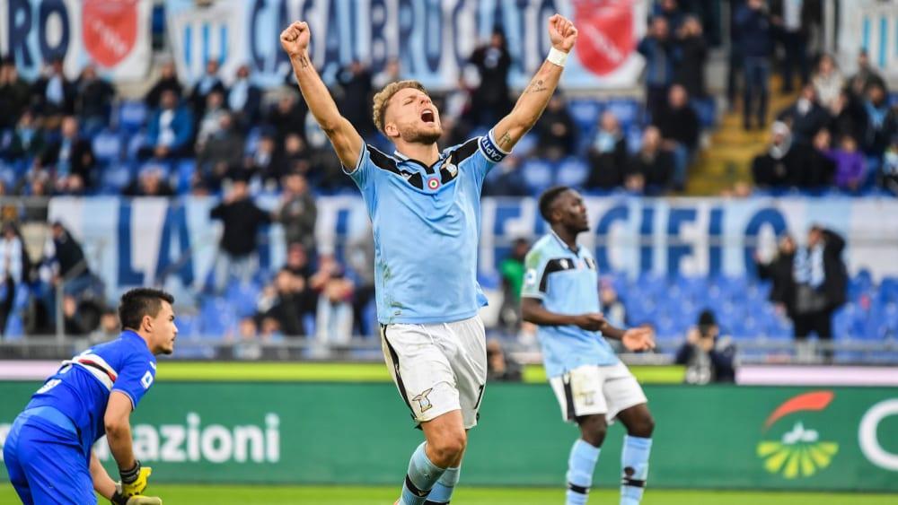 Ciro Immobile ist das Aushängeschild von Lazio Rom.