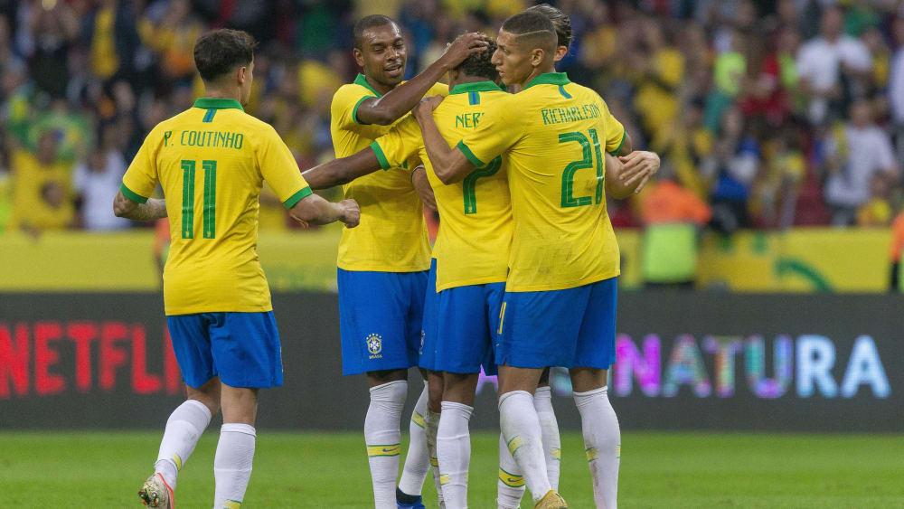 Sie hatten viel Grund zur Freude: Brasilianische Nationalspieler.