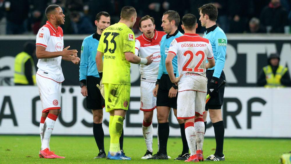 Florian Kastenmeier beschwerte sich nach Abpfiff beim Schiedsrichtergespann