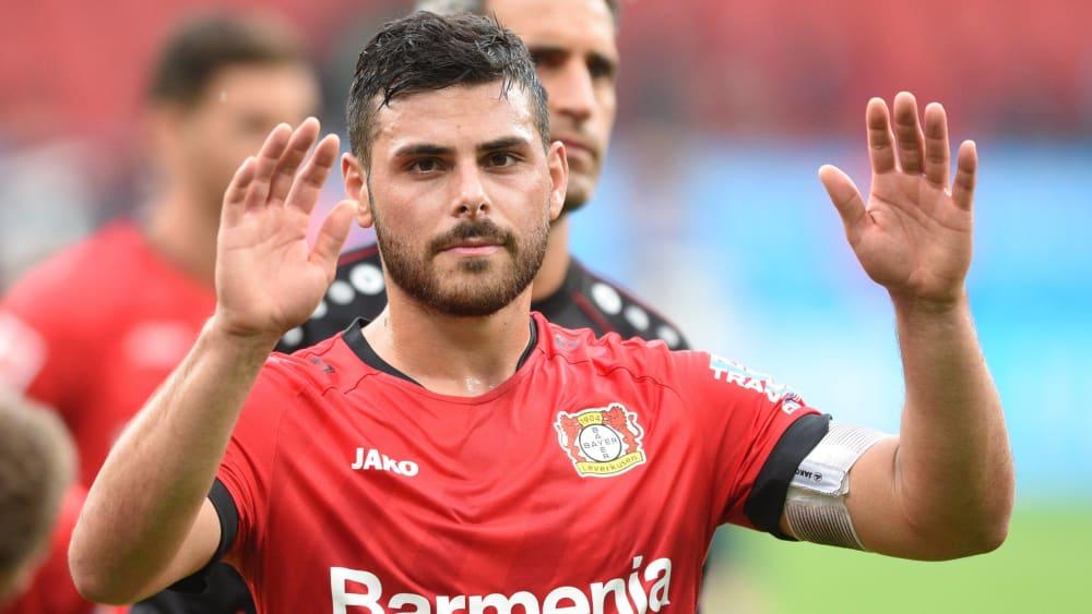 Leverkusens Offensivspieler Kevin Volland