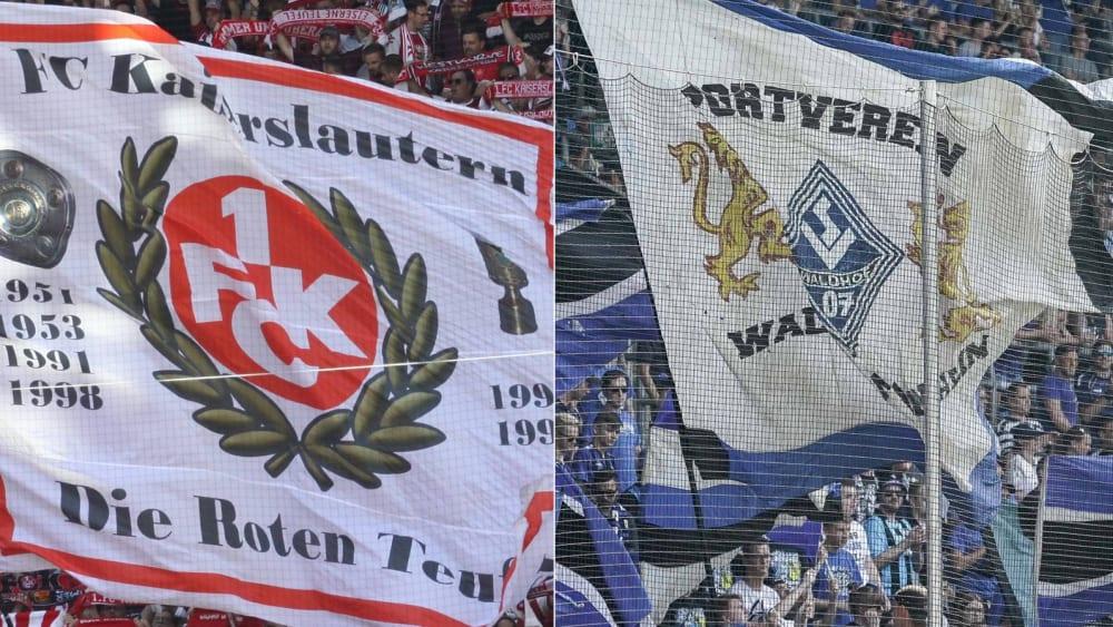 Fans von Kaiserslautern und Mannheim