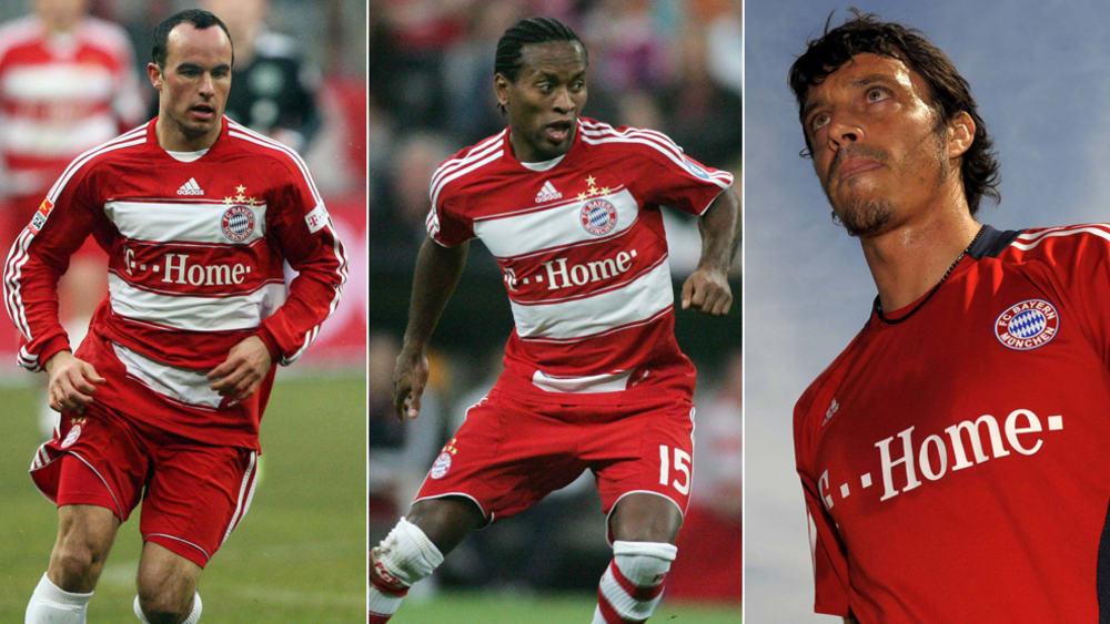 Die Bayern-Leihspieler 2009 hießen Landon Donovan, Zé Roberto und Massimo Oddo (v.l.).