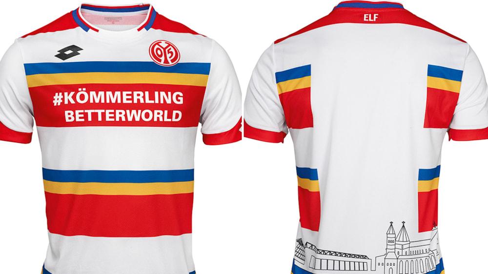FSV Mainz 05 Fastnachtstrikot 2020 Weiss Lotto 1