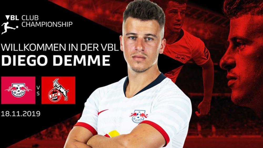 Diego Demme wird am 18. November für RB Leipzig auf dem virtuellen Rasen antreten.