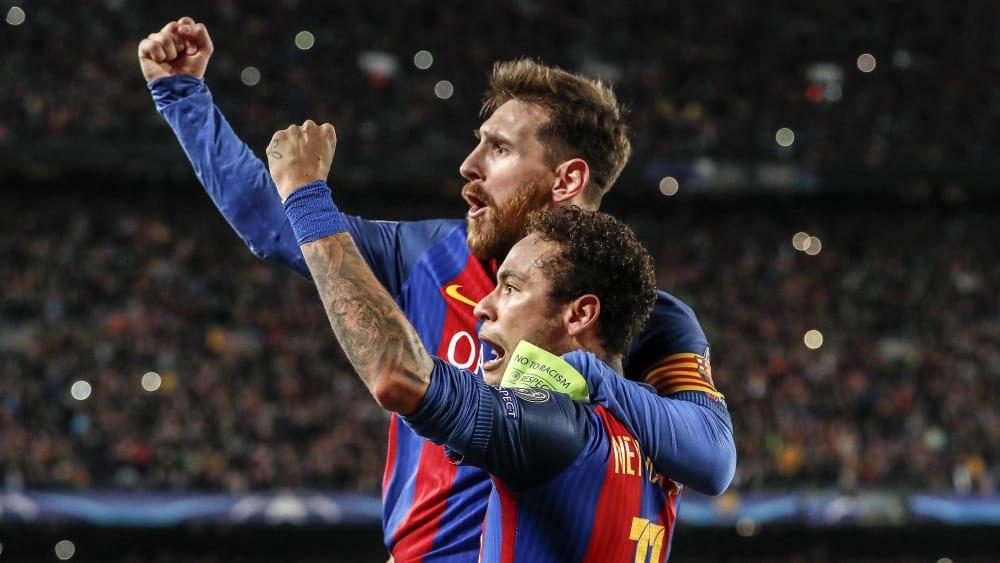 Vorerst werden die beiden nicht wieder zusammen für Barcelona spielen: Lionel Messi und Neymar.