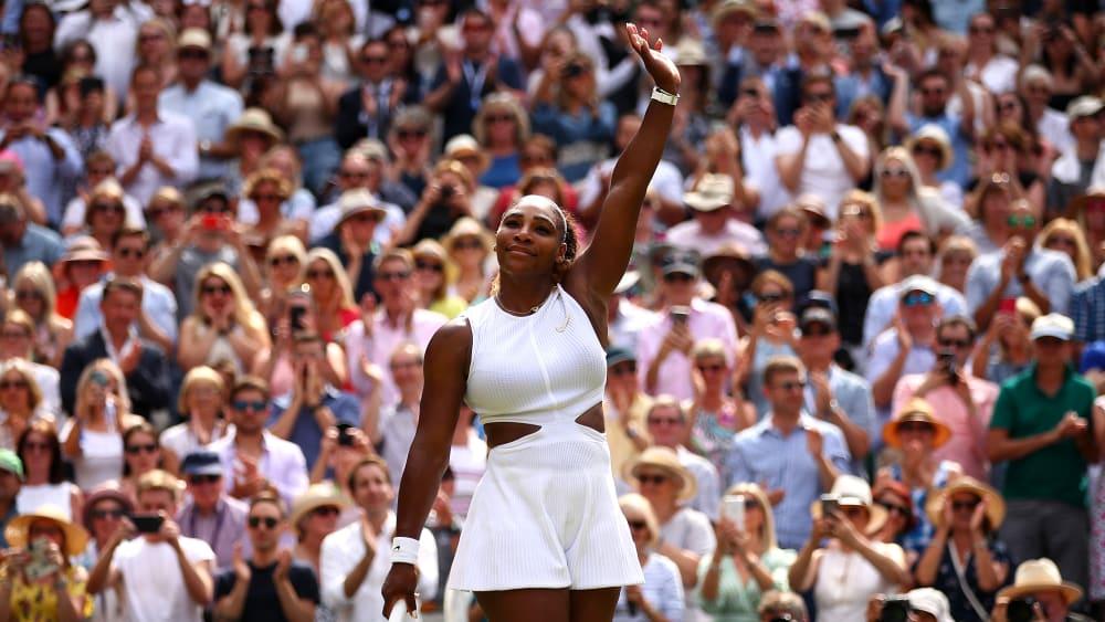 Serena Williams steht erneut im Finale von Wimbledon.