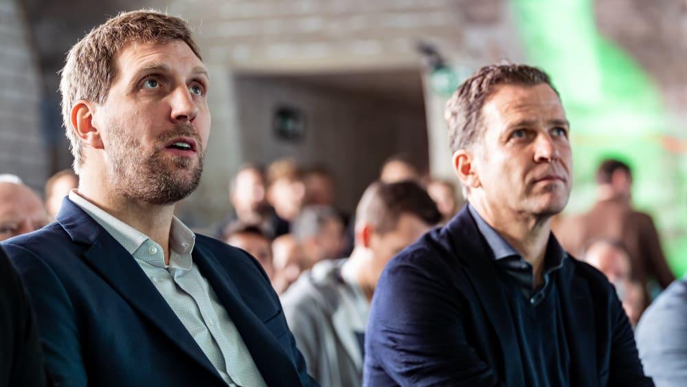 Dirk Nowitzki und Oliver Bierhoff
