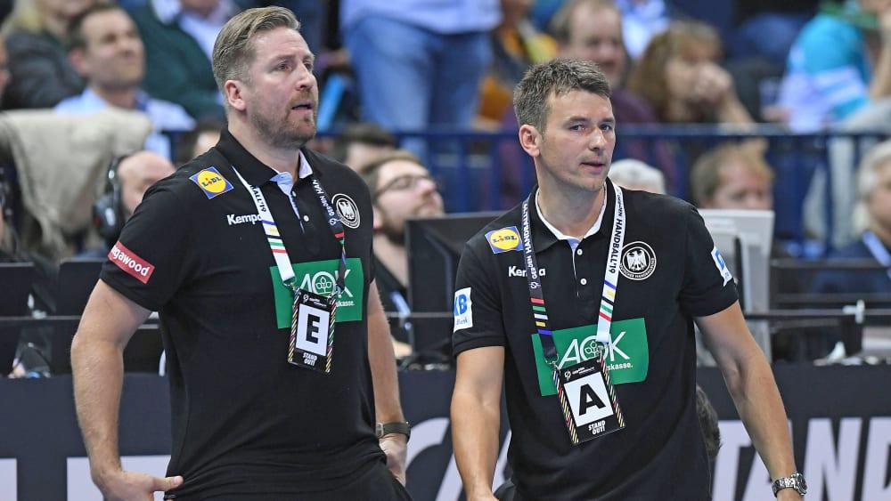 Teammanager Oliver Roggisch (l.) und Christian Prokop