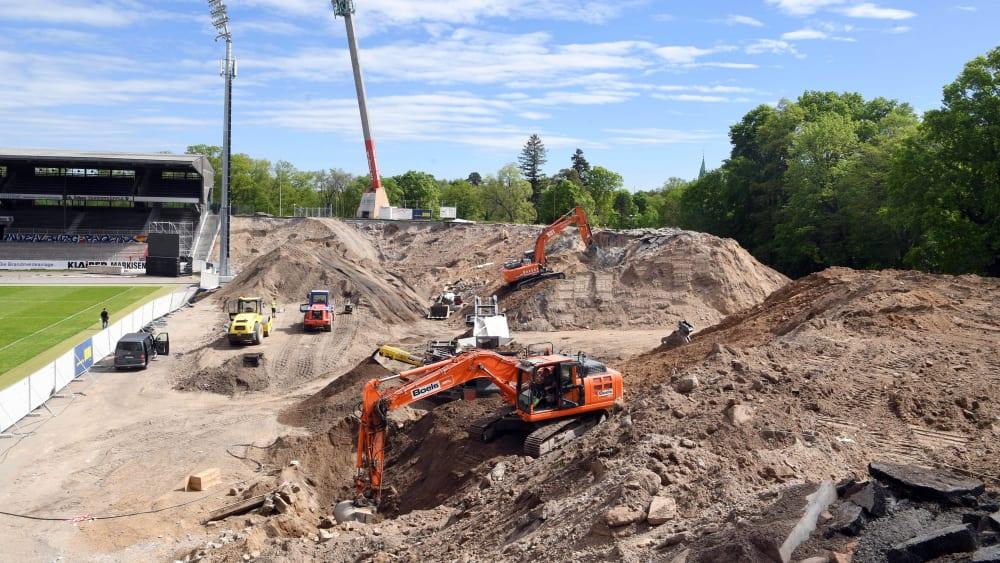 Baustelle Wildparkstadion: Der Karlsruher SC und die Stadt Karlsruhe führen einen juristischen Streit