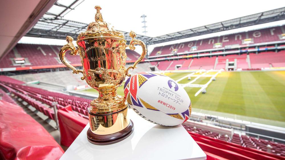 Um diese Trophäe geht es: In Japan beginnt am Freitag die Rugby-WM.