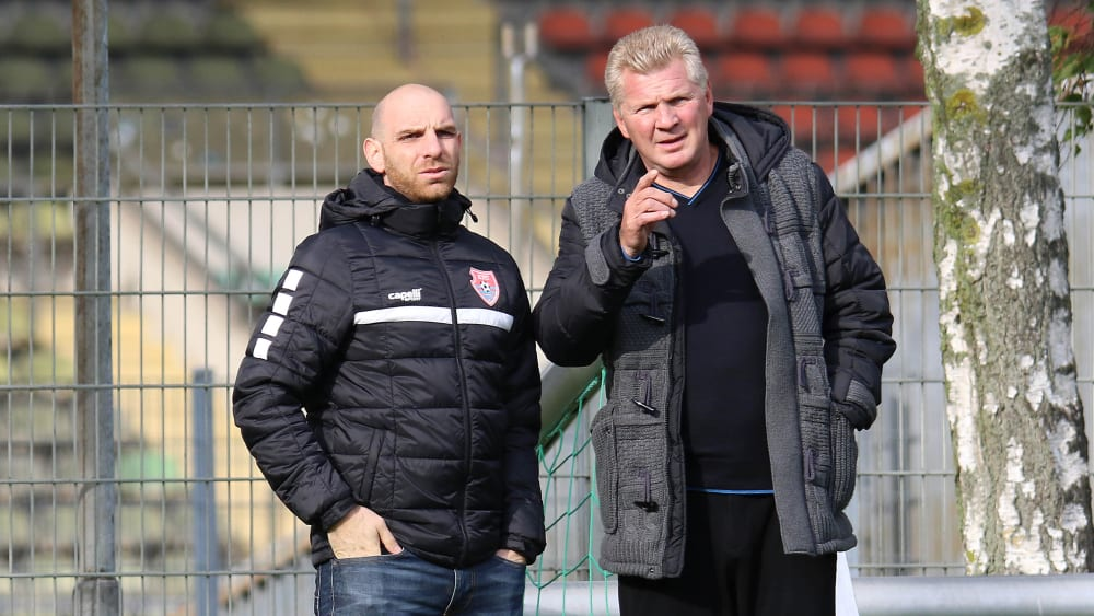 Niko Weinhart und Stefan Effenberg