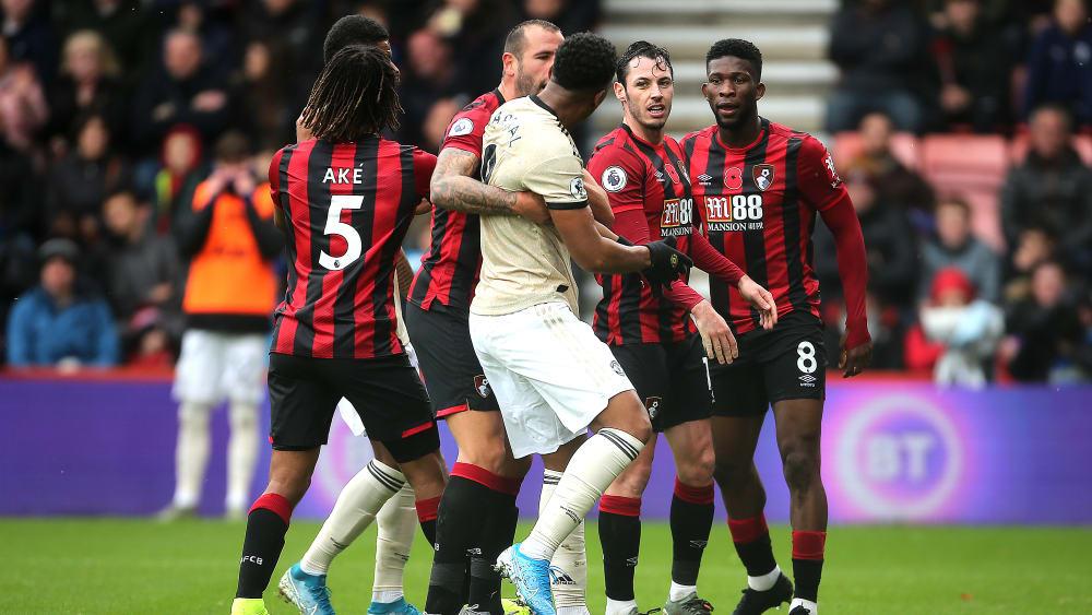 Heißes Spiel zwischen Bournemouth und Manchester United