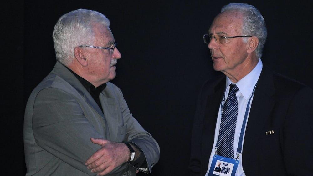 2. Dezember 2010 in Zürich: Die WM-Vergabe 2018 und 2022 stand an: Fedor Radmann und Franz Beckenbauer.