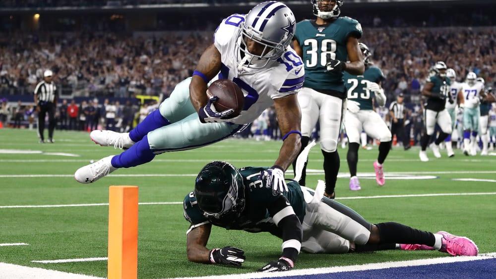 Wide Receiver Tavon Austin von den Dallas Cowboys erzielt einen Touchdown gegen die Philadelphia Eagles