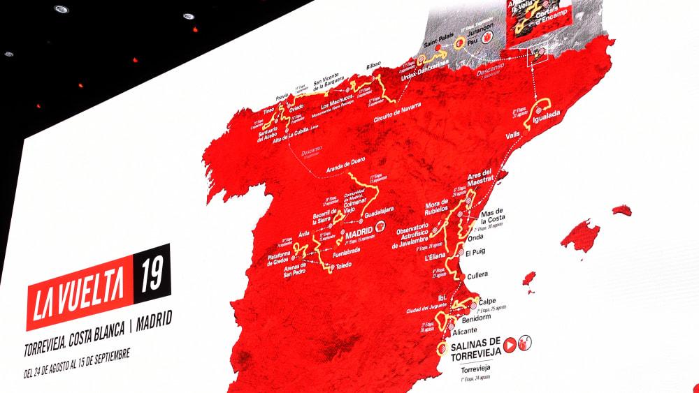 Streckenführung der Vuelta 2019