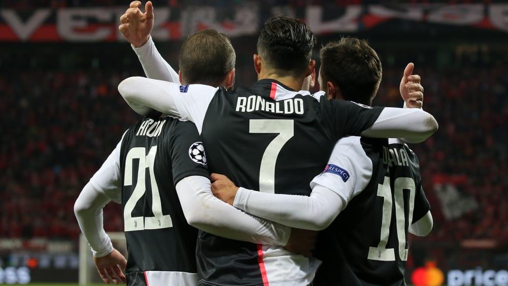 Gonzalo Higuain, Cristiano Ronaldo und Paulo Dybala (v.l.n.r.)