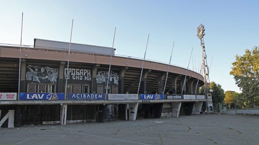 Historischer Ort: Partizans Stadion in der Humska 1 in Belgrad.