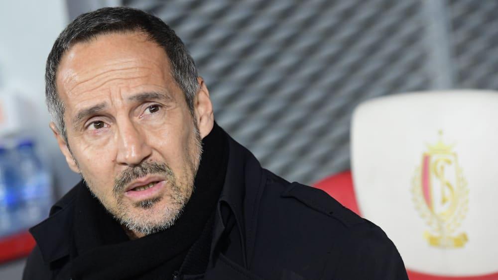 Eintracht Frankfurts Trainer Adi Hütter will unbedingt nach oben klettern.