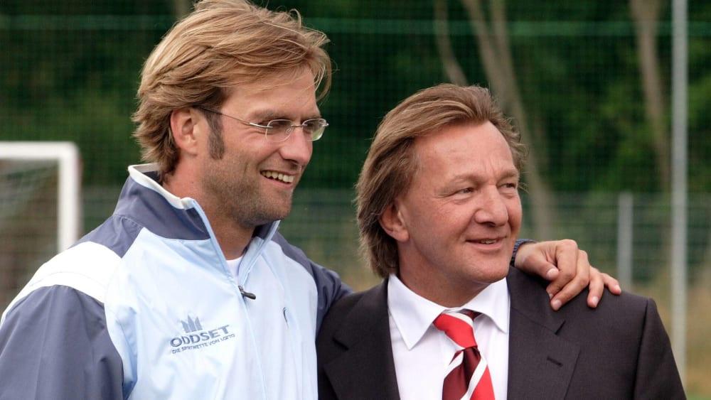 Alte Bekannte: Jürgen Klopp und Harald Strutz.