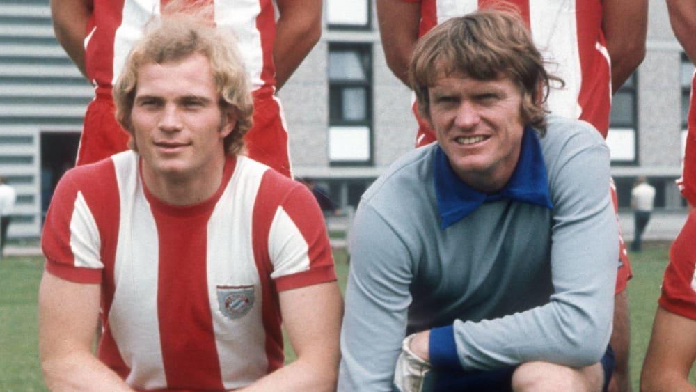 Uli Hoeneß (l.) und Sepp Maier - hier 1972 im Bayern-Dress.