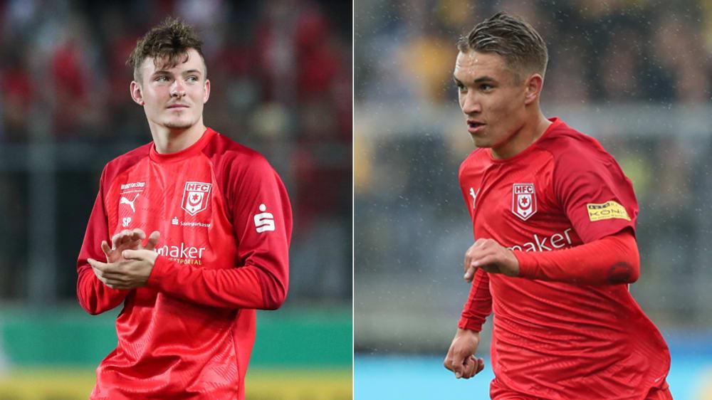 Bleiben beim HFC: Niklas Kastenhofer (li.) und Julian Guttau.