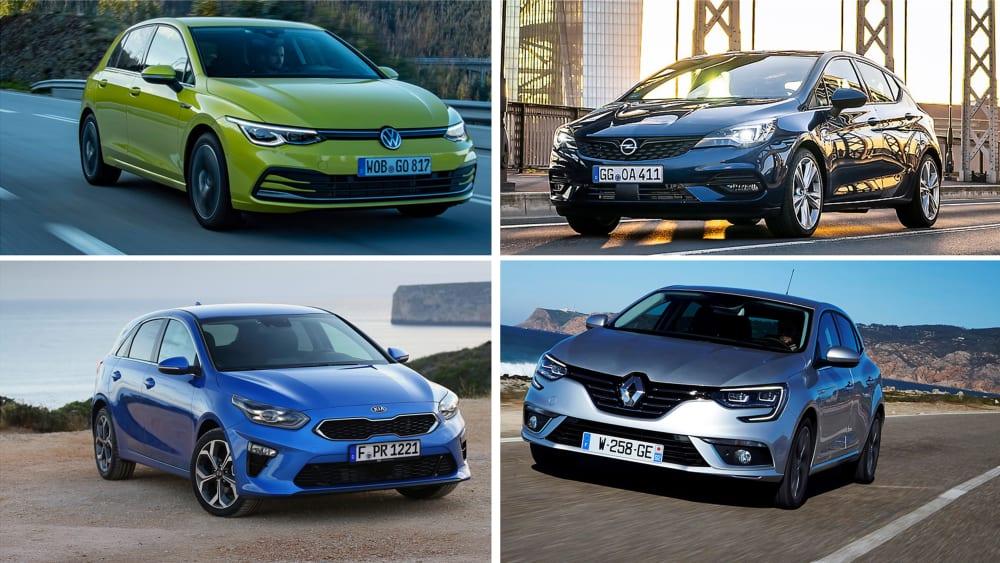 VW Golf, Opel Astra, Kia Ceed, Renault Mégane