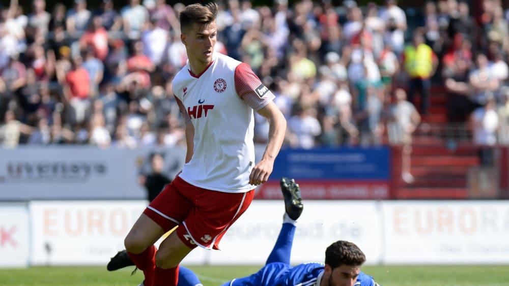 Spielt trotz des Abstiegs mit Fortuna Köln weiterhin in der 3. Liga: Moritz Fritz.